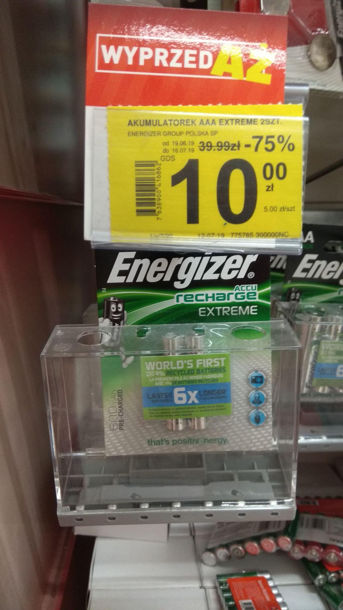 Akumulatorki Energizer Extreme AAA 800 mAh 2 szt Carrefour Skarżysko Kamienna
