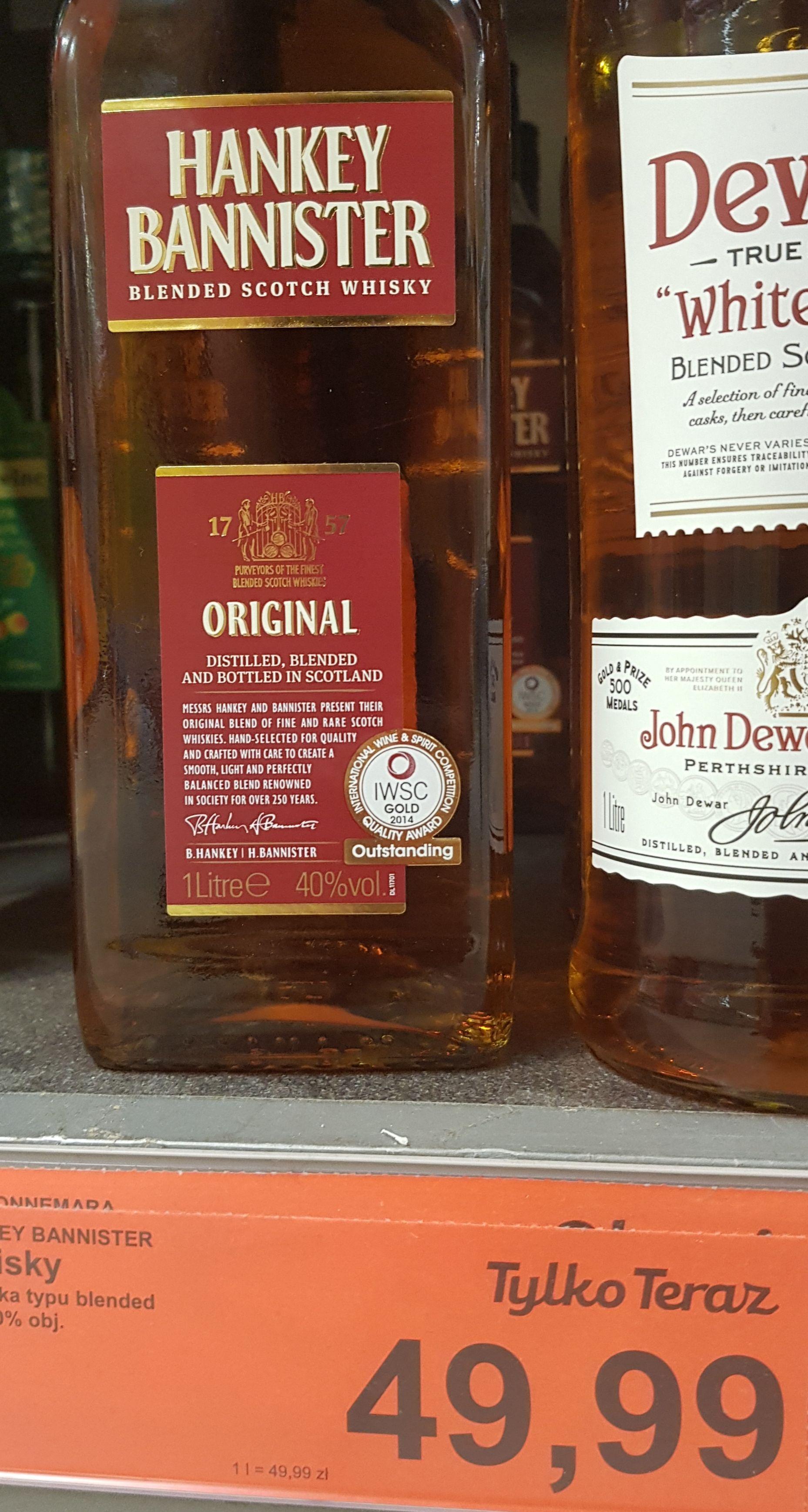 Hankey Bannister 1 litr Whisky Aldi
