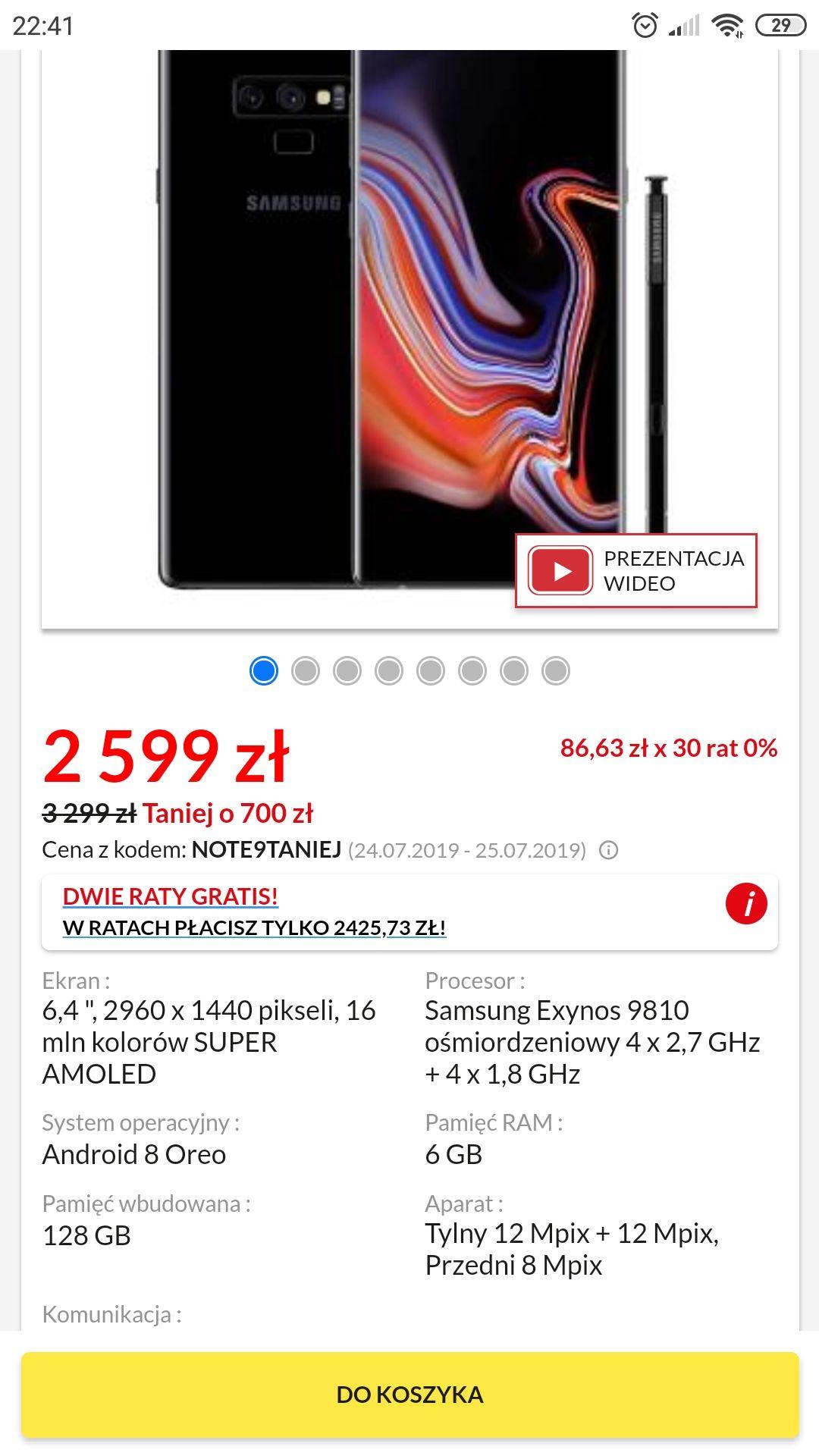 Samsung Galaxy Note 9 - RTV EURO AGD
