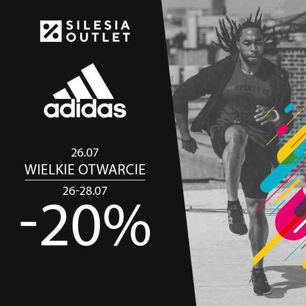 Adidas -20% Otwarcie outletu w Silesia outlet [Gliwice]