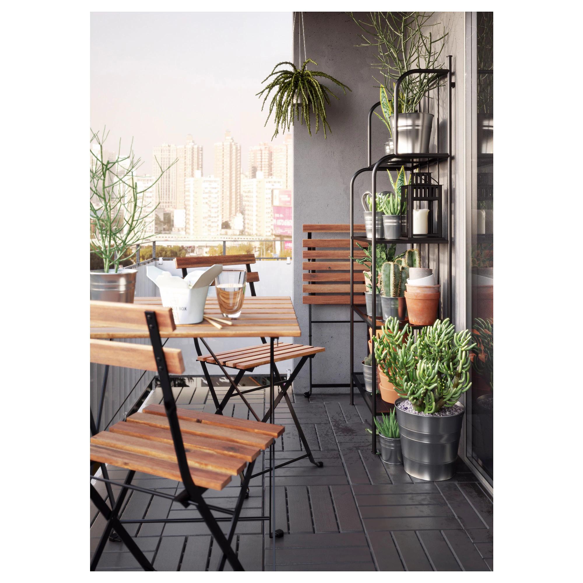 TÄRNÖ - Krzesło do ogrodu lub na balkon, możliwy też stolik do kompletu