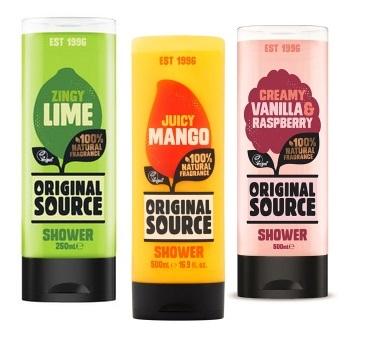 Żele pod prysznic Original Source 500 ml Mix Vanilia&Raspberry, Mango, Lime Rossmann