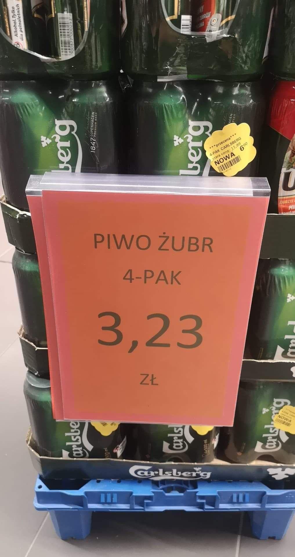 Piwo żubr lub carlsberg 4pak - netto Gdańsk Madison