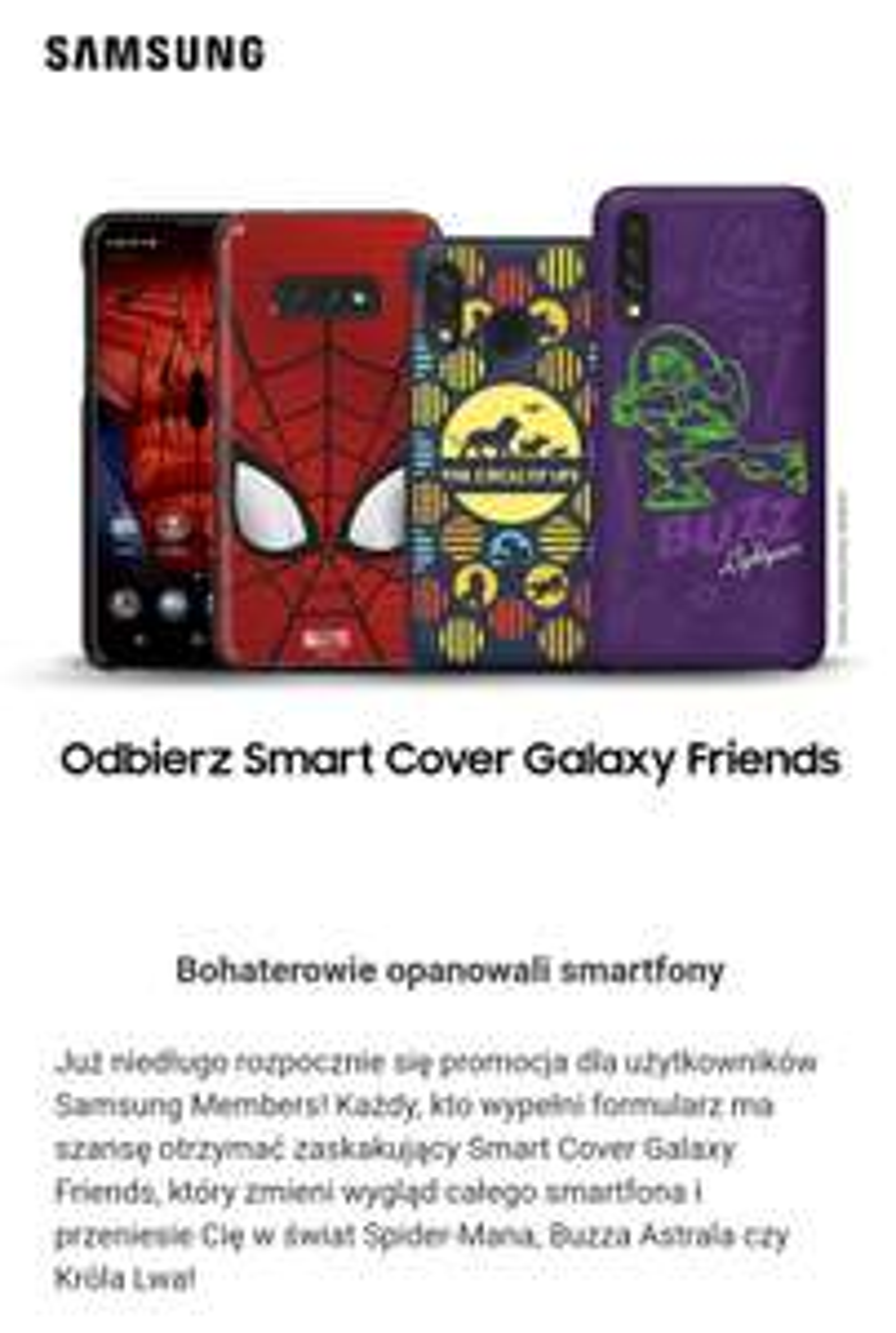 Darmowe Smart Covery od Samsunga dla posiadaczy S10e, S10, S10+, A40 lub A50