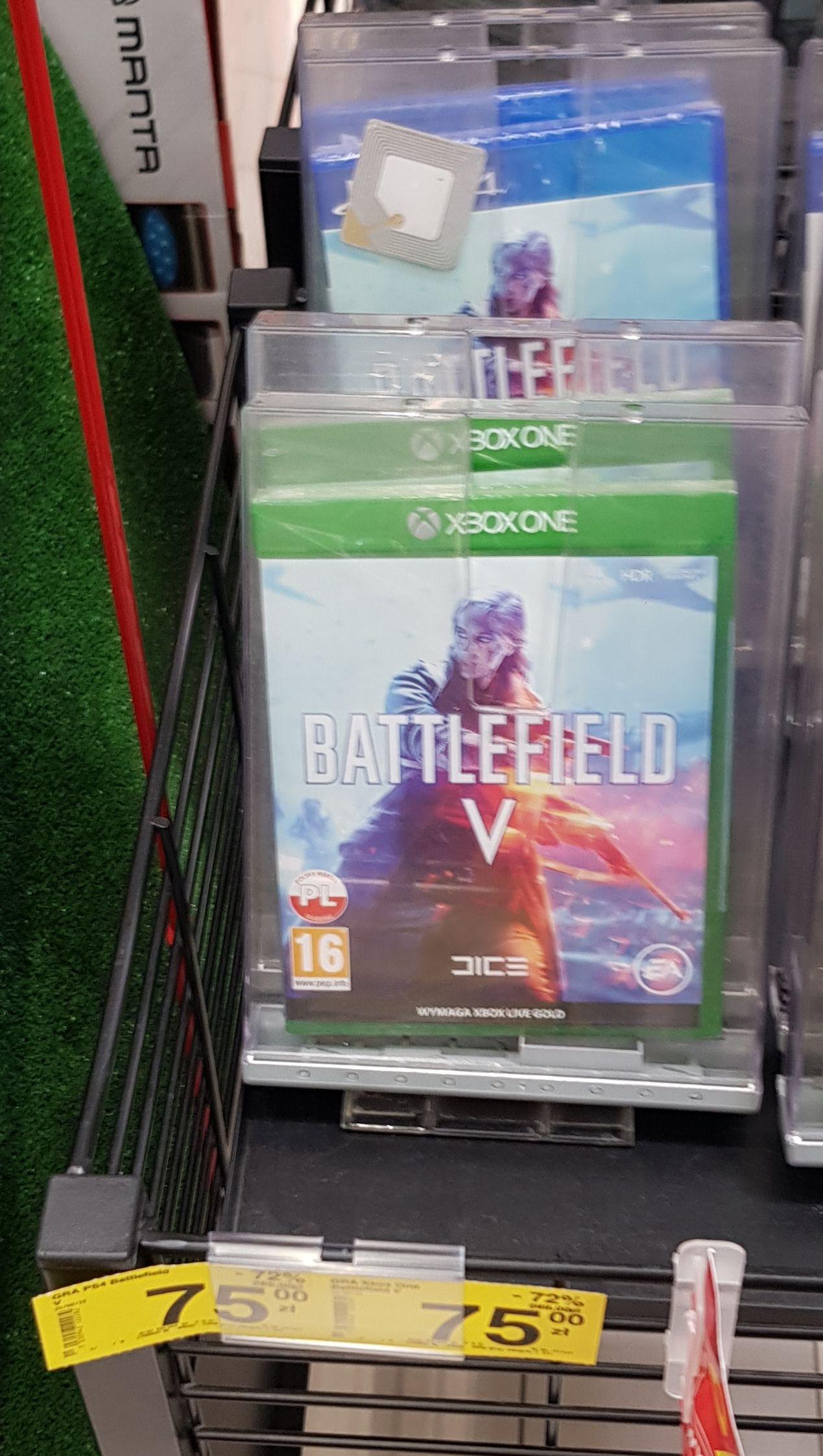 Battlefield V na PS4 i Xbox One za 75zł ( możliwe 67,5zł ) w Carrefour