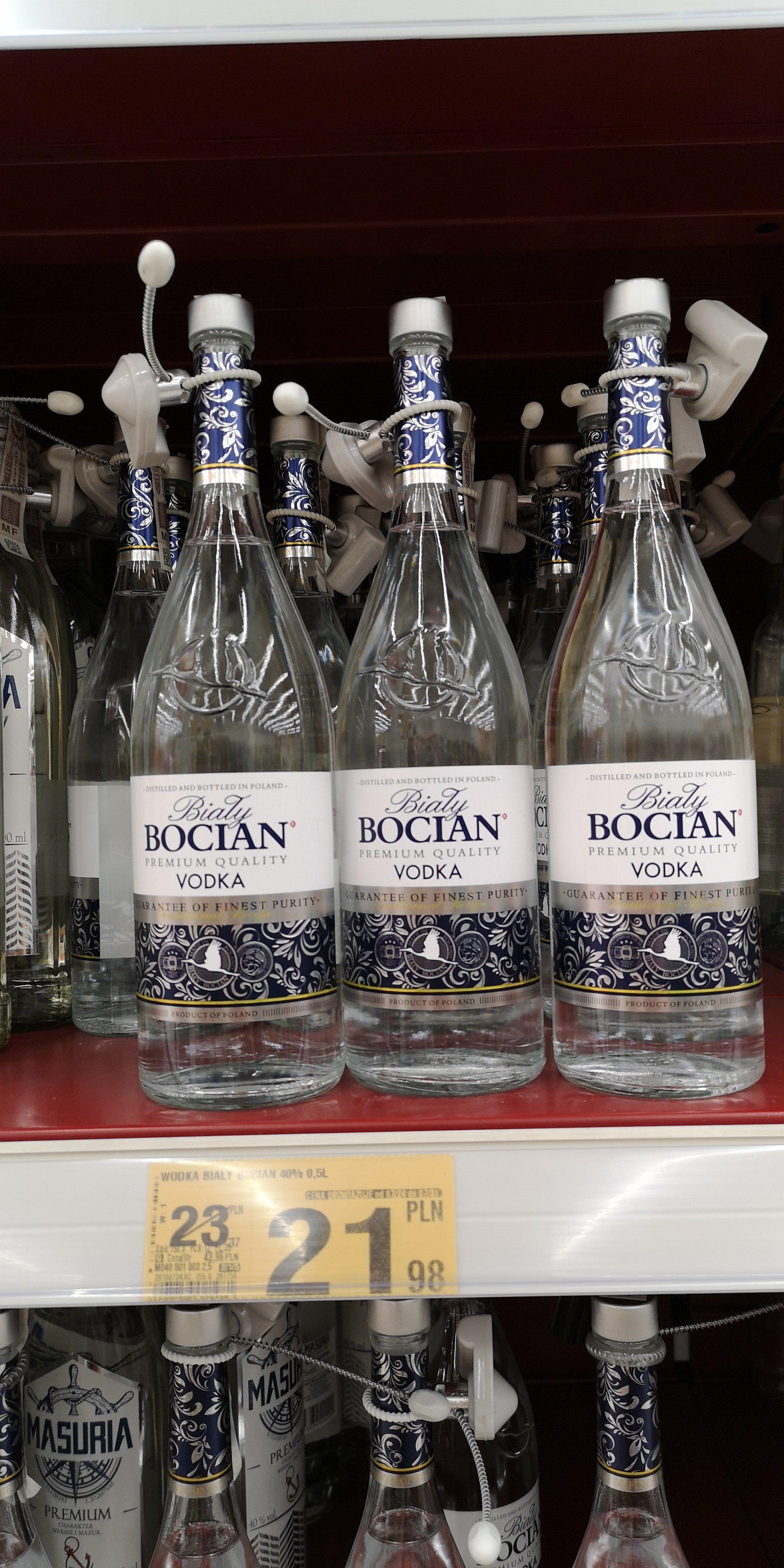 Wódka Biały Bocian 0.5 Auchan
