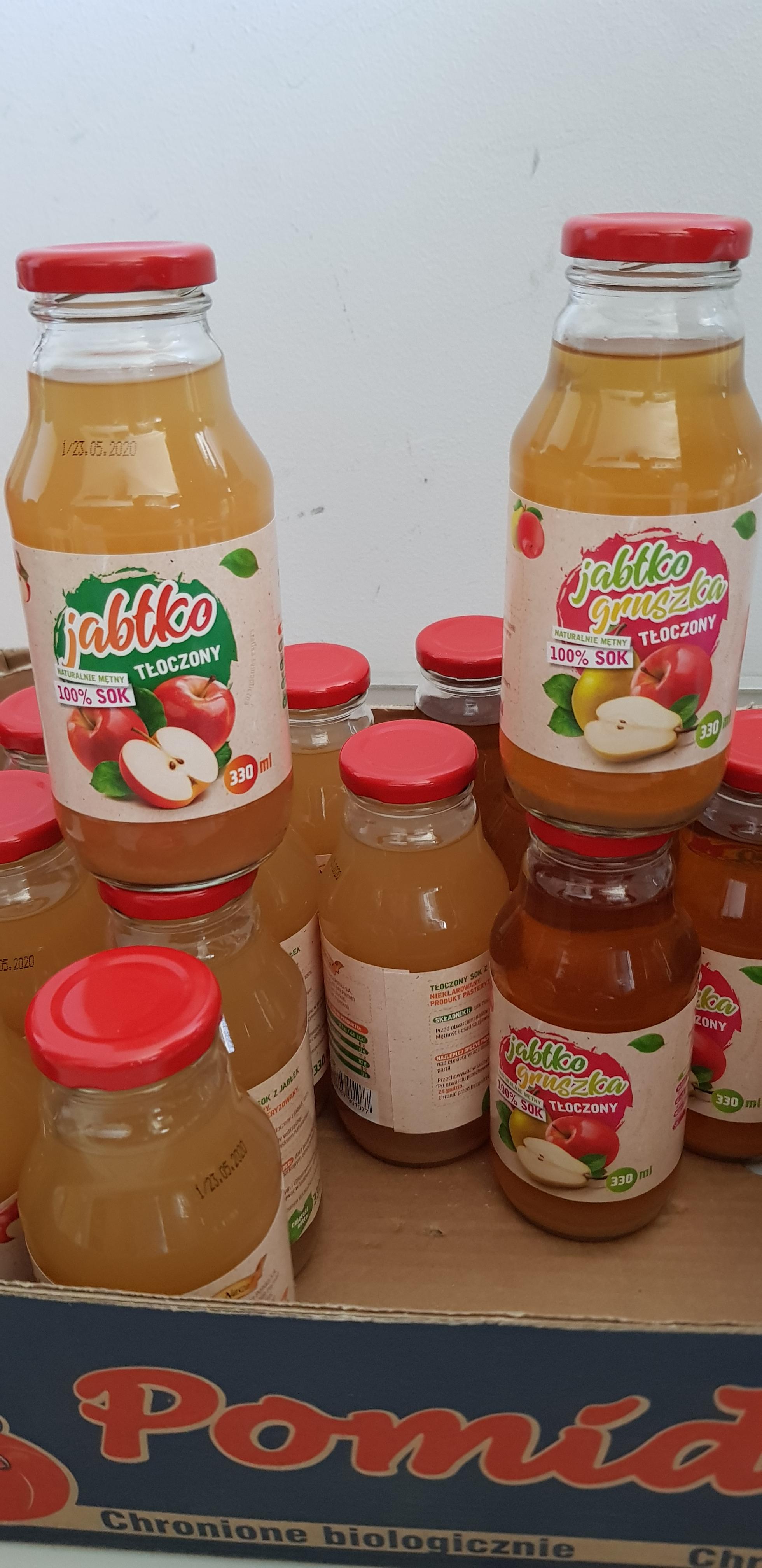 Sok NFC jabłko, jabłko-gruszka 330 ml CHATA POLSKA