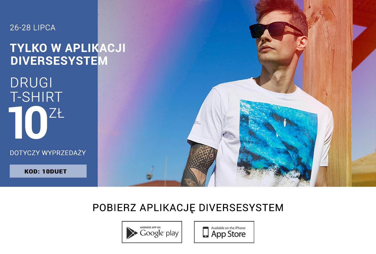 Drugi T-shirt za 10PLN w Aplikacji - Diverse