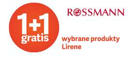 ROSSMANN 1+1 gratis na wybrane produkty Lirene 11.08-15.08.2019