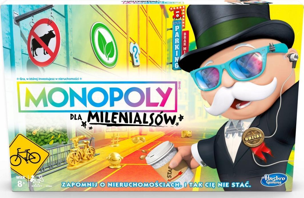 Hasbro Monopoly dla Milenialsów gra planszowa