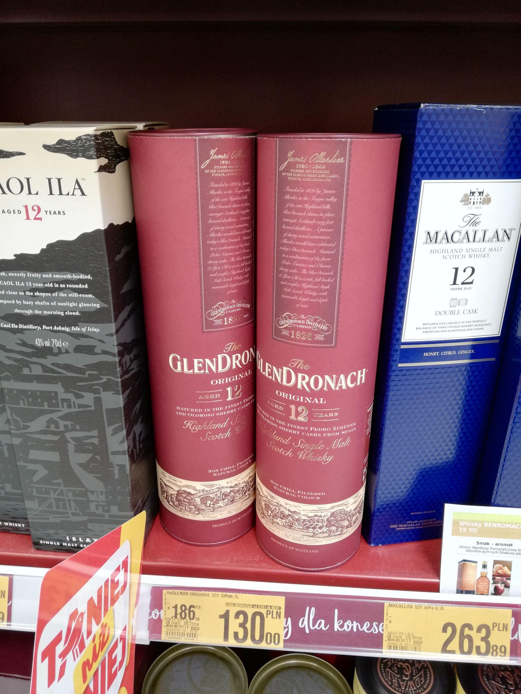Whisky Glendronach 12 Original, Auchan Kometa Toruń