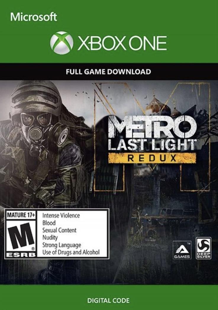 Metro Last Light Redux Xbox One