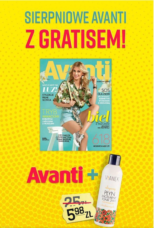 Vianek odżywczy  tonik i płyn micelarny 2w1 w sierpniowym wydaniu Avanti