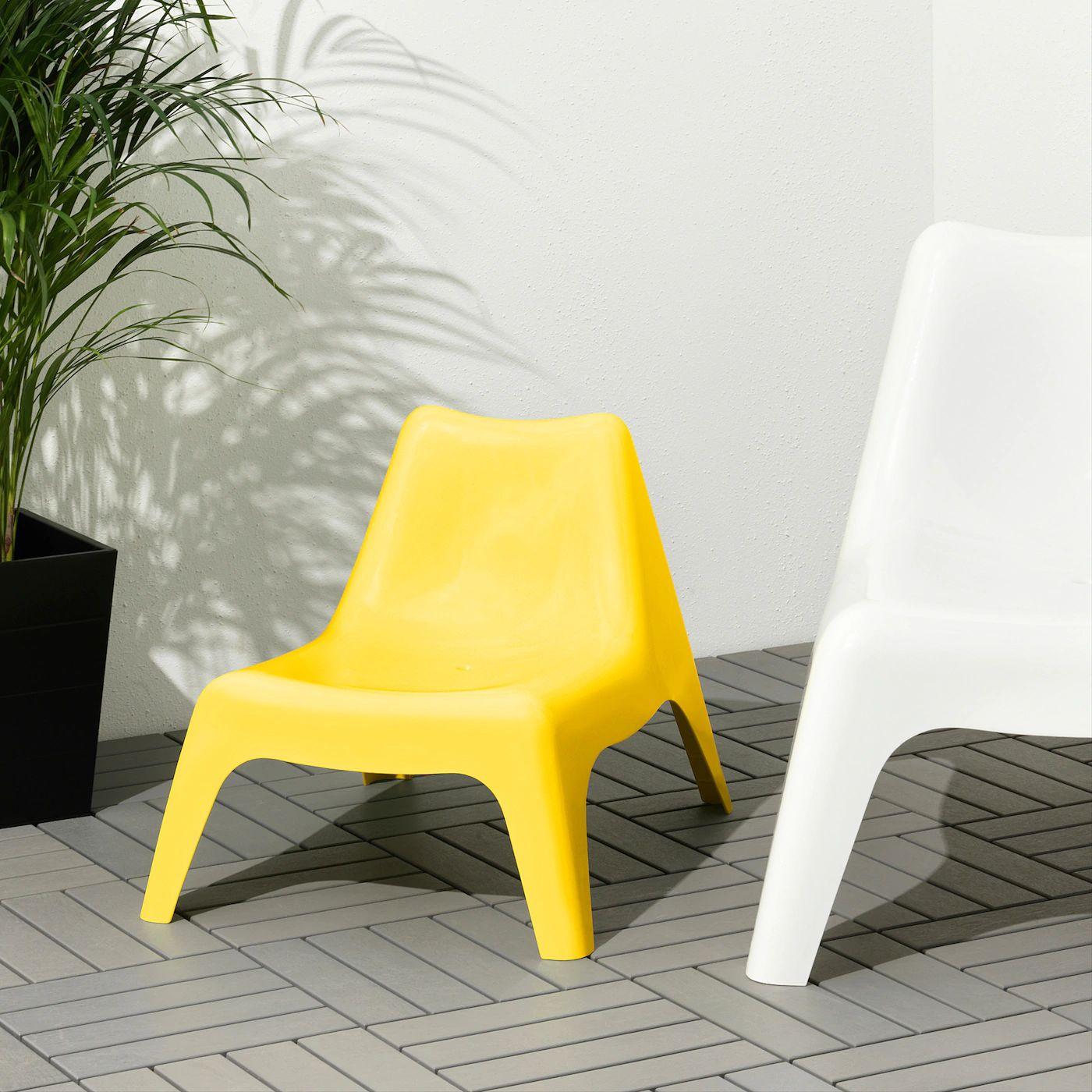 IKEA Krzesełko ogrodowe dziecięce Bunso żółte