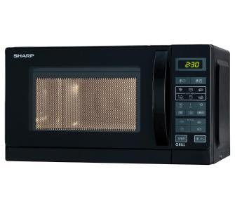 Kuchenka mikrofalowa Sharp R642BKW, 20L, 800W, 1000W grill- kwarcowy