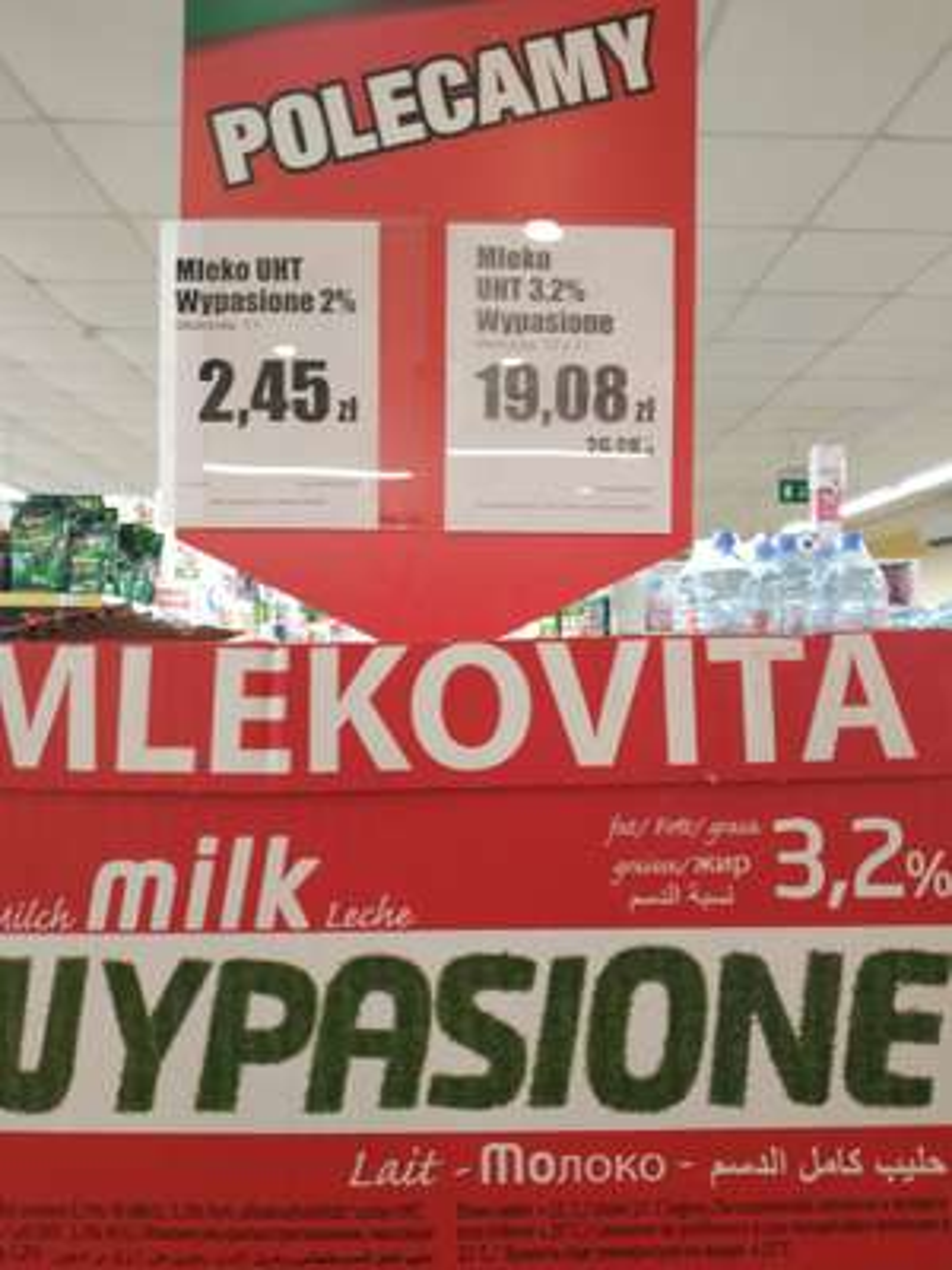 Mleko wypasione 3,2% UHT od mlekovity w Dino