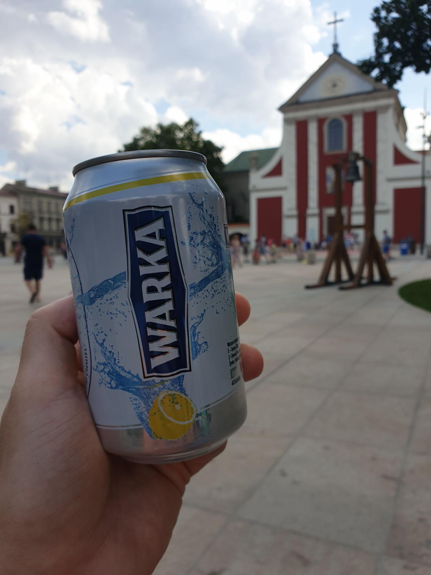 Warka Radler 0% darmowa. Lublin Plac Litewski