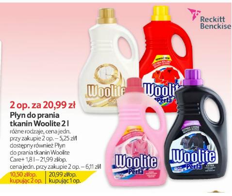 Woolite w Tesco 4 litry za 20,99 zł (2x2l)