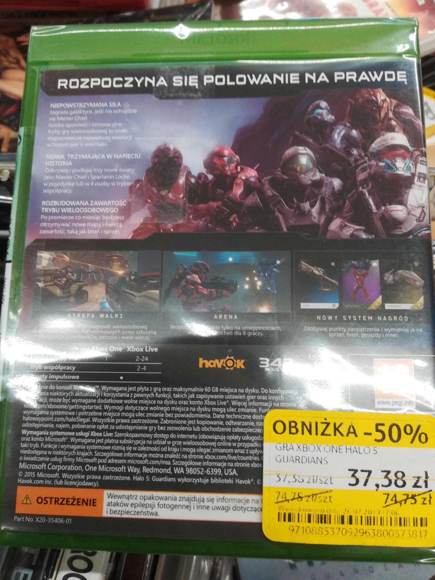 Halo 5 Xbox One Tesco Ruda Śląska 1go maja