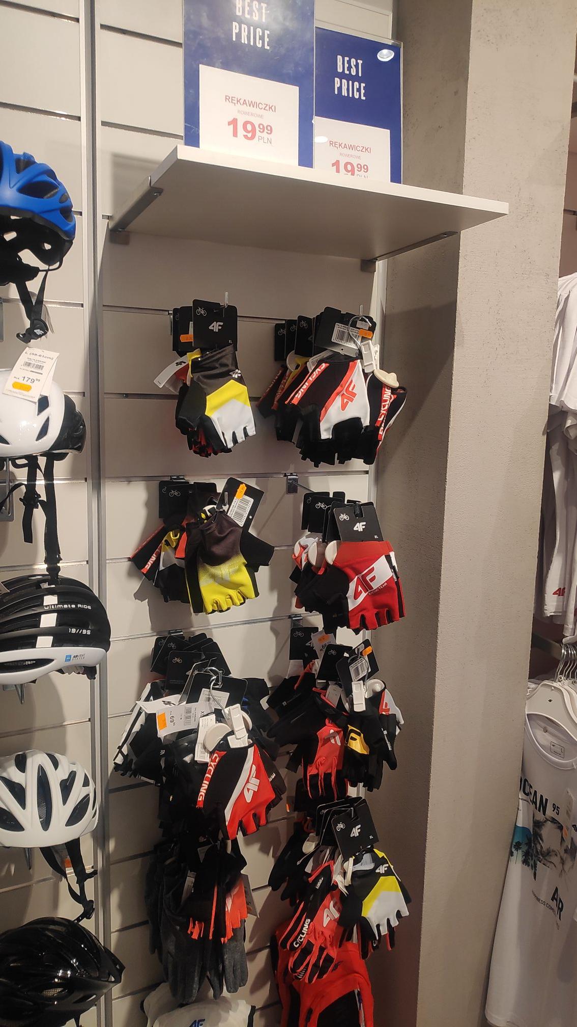 Rękawiczki rowerowe 4F Galeria Posnania Poznań