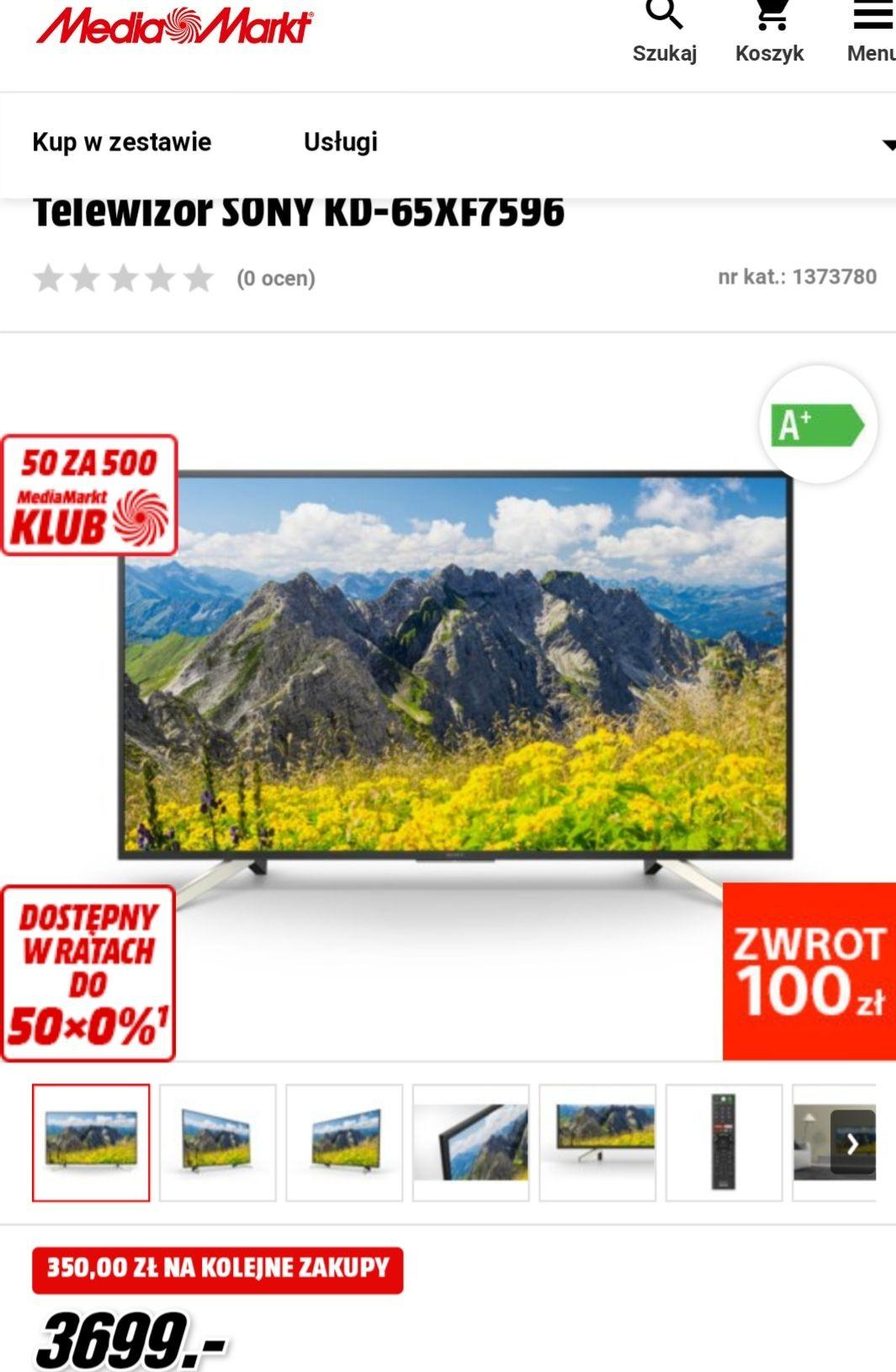 Telewizor SONY KD-65XF7596  w MediaMarkt