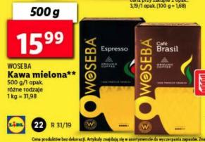 Kawa mielona WOSEBA 500 g. @Lidl