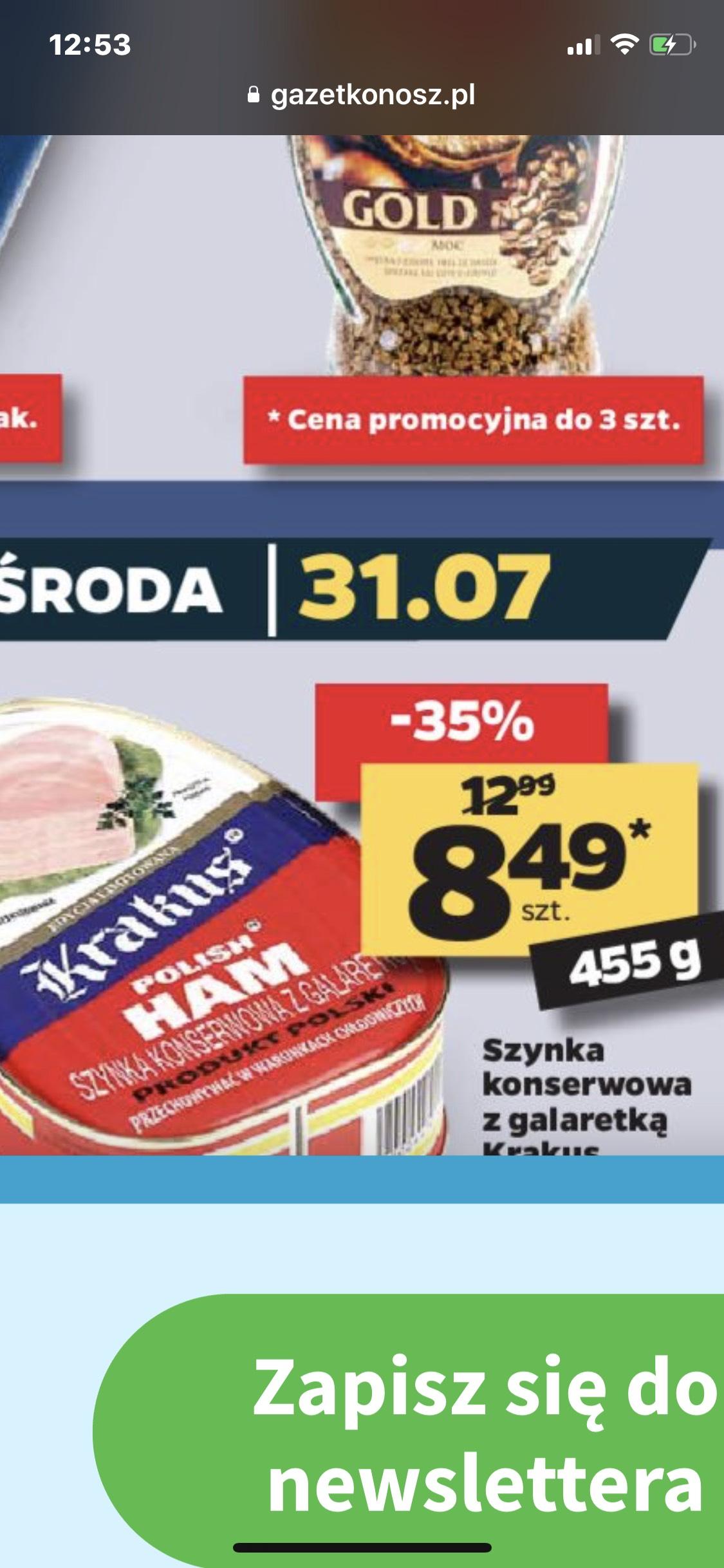 Szynka konserwowa Krakus Netto