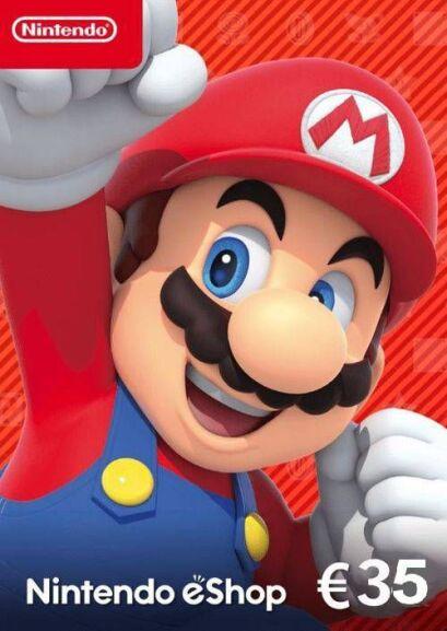 Karta do Nintendo eshop 35€ za 29,99€