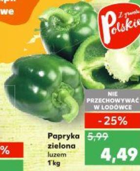Zielona papryka w super cenie.Kaufland.