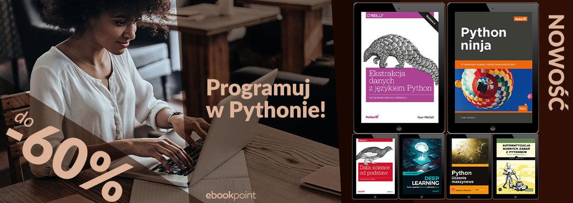 Python. Ebooki do 60% taniej @ ebookpoint