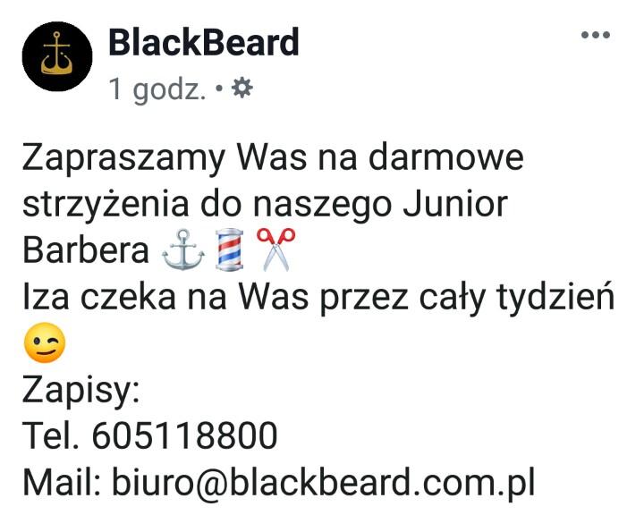 Darmowe męskie strzyżenie u Junior Barber'a we Wrocławiu