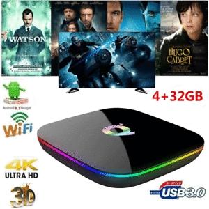 Q Plus Smart TV Box Android 9.0 Allwinner H6 4 GB / 32 GB 6K H.265 Media Player F1I5
