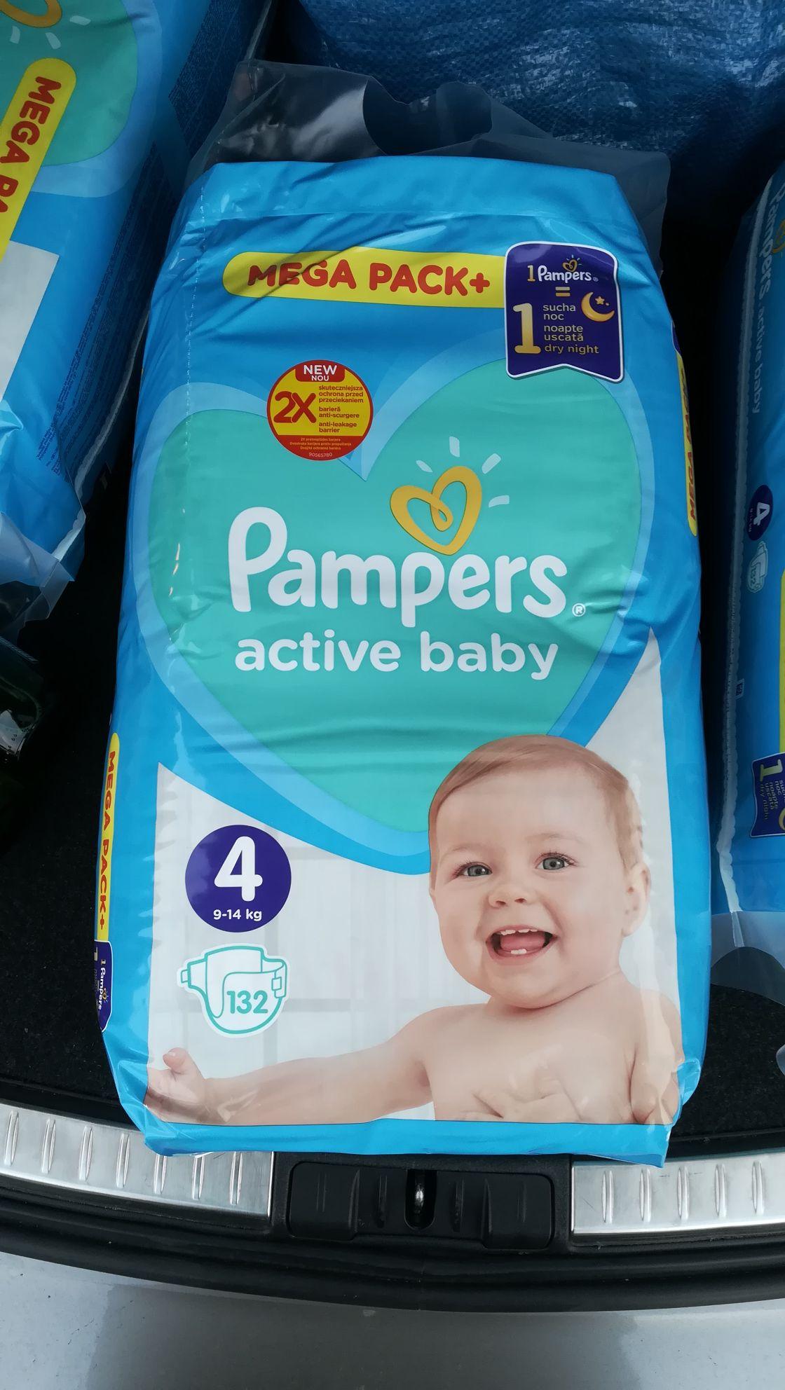 Pampers Active Baby 4 w Lidlu po 0,55 zł za szt.