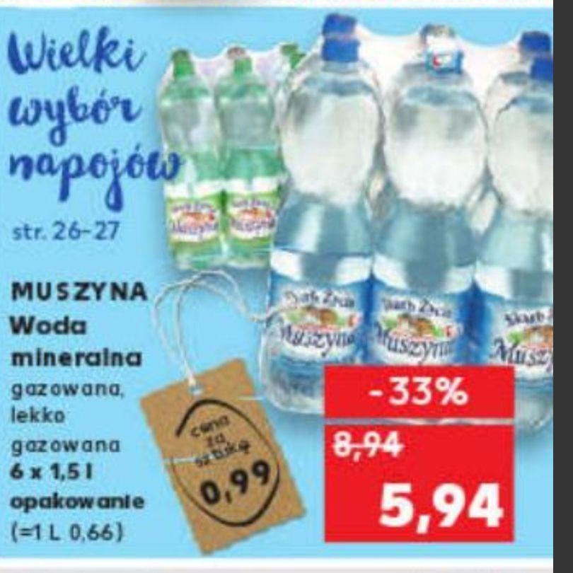 Woda Muszyna Skarb Życia 6szt. 5.94 (99 gr. za szt) Kaufland
