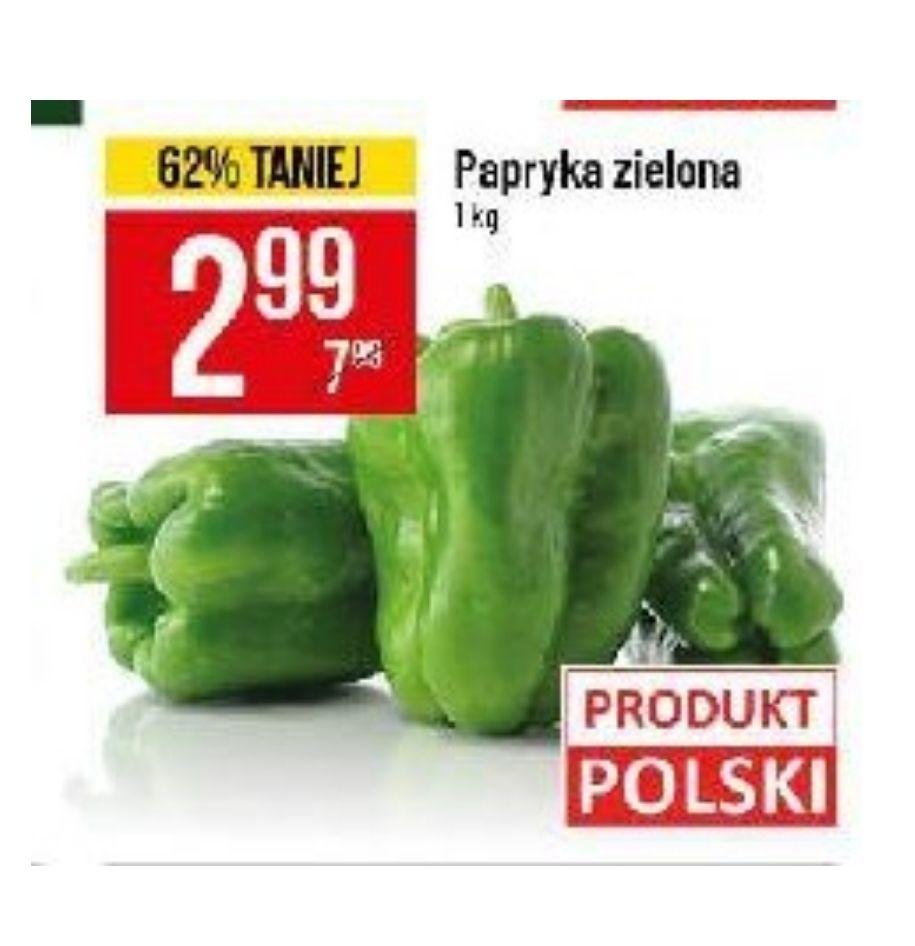 Papryka zielona w mega cenie. POLOmarket