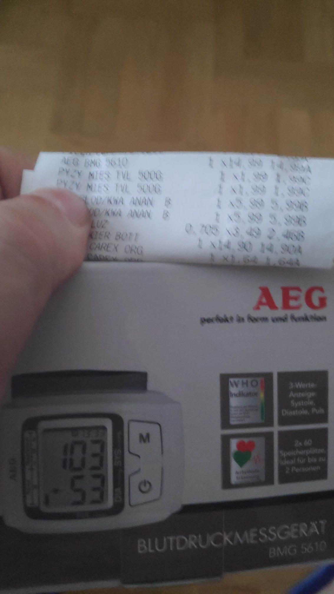 Ciśnieniomierz nadgarstkowy AEG  - 5610  - TESCO