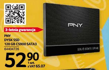 Dysk SSD PNY 120 GB 2,5 SATA3 CS900 SELGROS