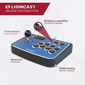 Lioncast Arcade Fighting Stick czerwony i czarny w 42,16€ amazon.de