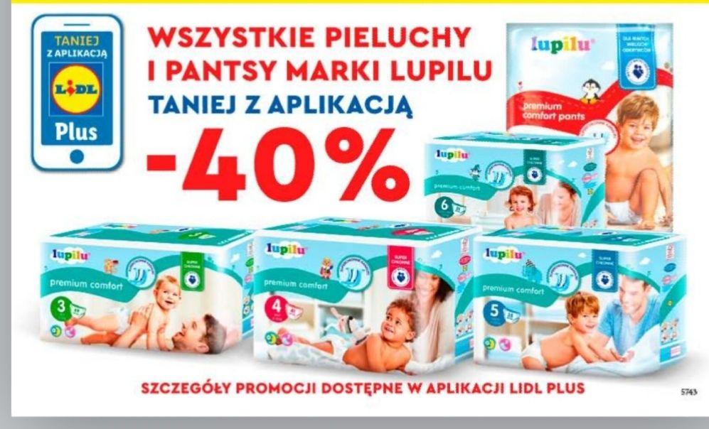 Pieluszki i pantsy Lupilu Premium Comfort  Lidl 40% taniej z aplikacją od czwartku