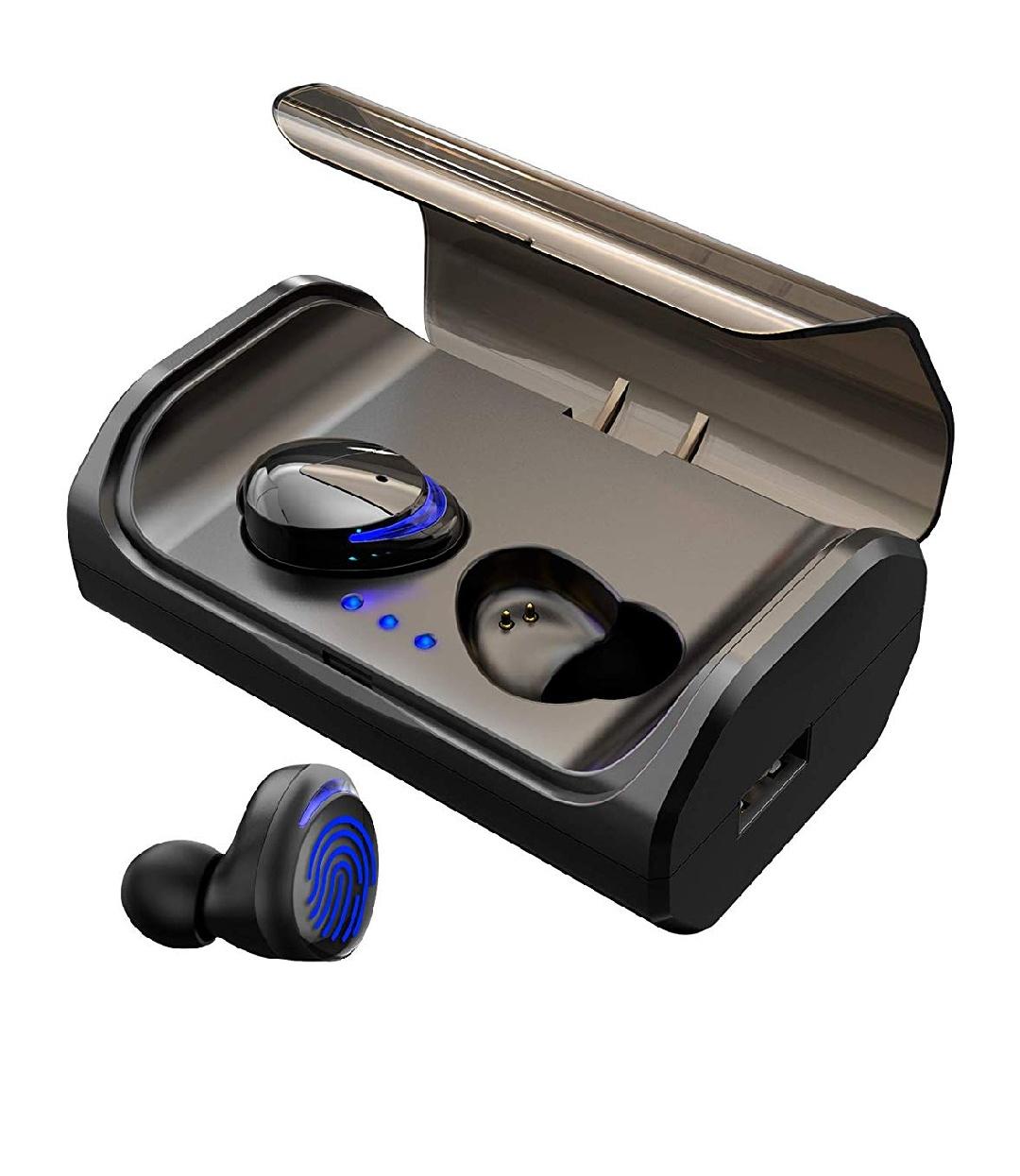 Słuchawki HolyHigh bezprzewodowe , Bluetooth 5.0 z baterią 3000 mAh, czas odtwarzania 120 godzin IPX6, wodoszczelny mikrofon