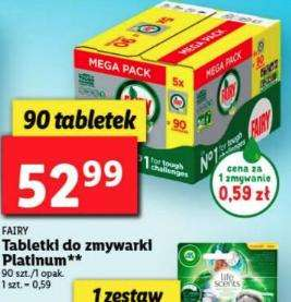 Fairy Platinum All In One 90 sztuk - Lidl tabletki do zmywarki