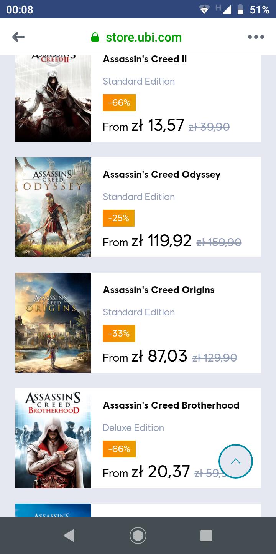 Promocja na gry z serii assassin's Creed