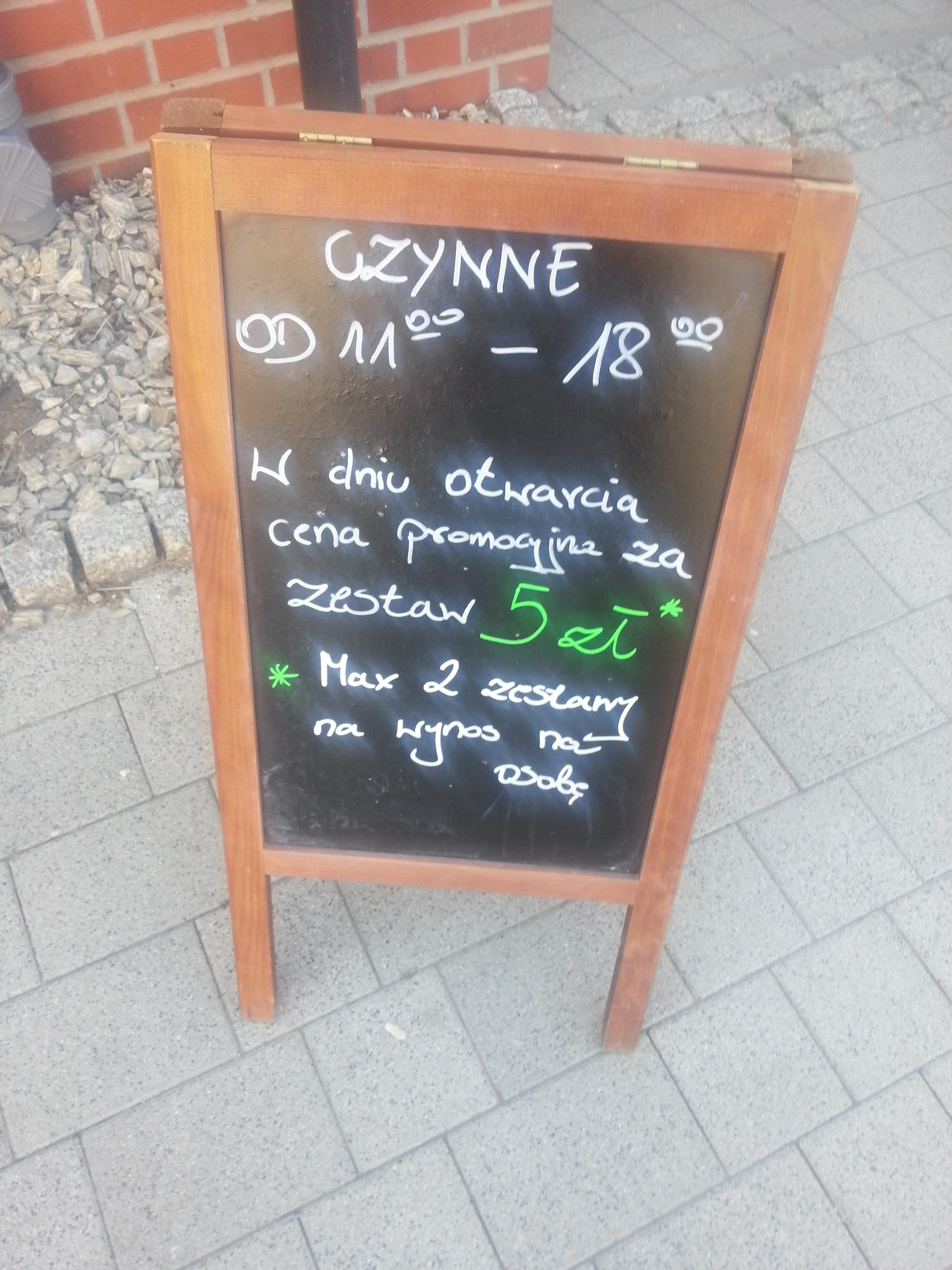 Papudajnia.pl zestaw obiadowy za 5 zł z okazji otwarcia (Starogard Gdański)
