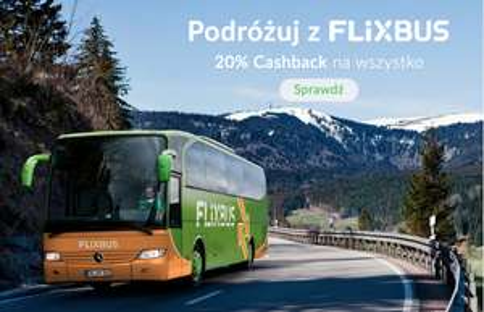 FlixBus - 20% cashback Planet Plus