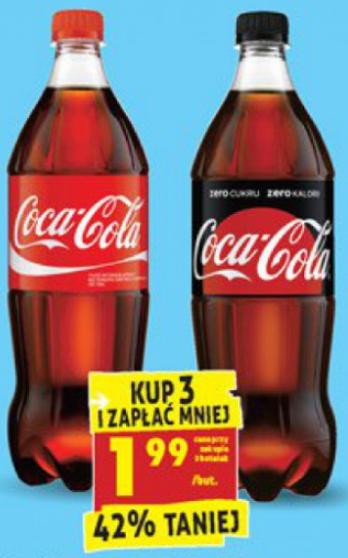 Coca-Cola 3x1l za niecałe 6zł, Biedronka, 29.07-03.08
