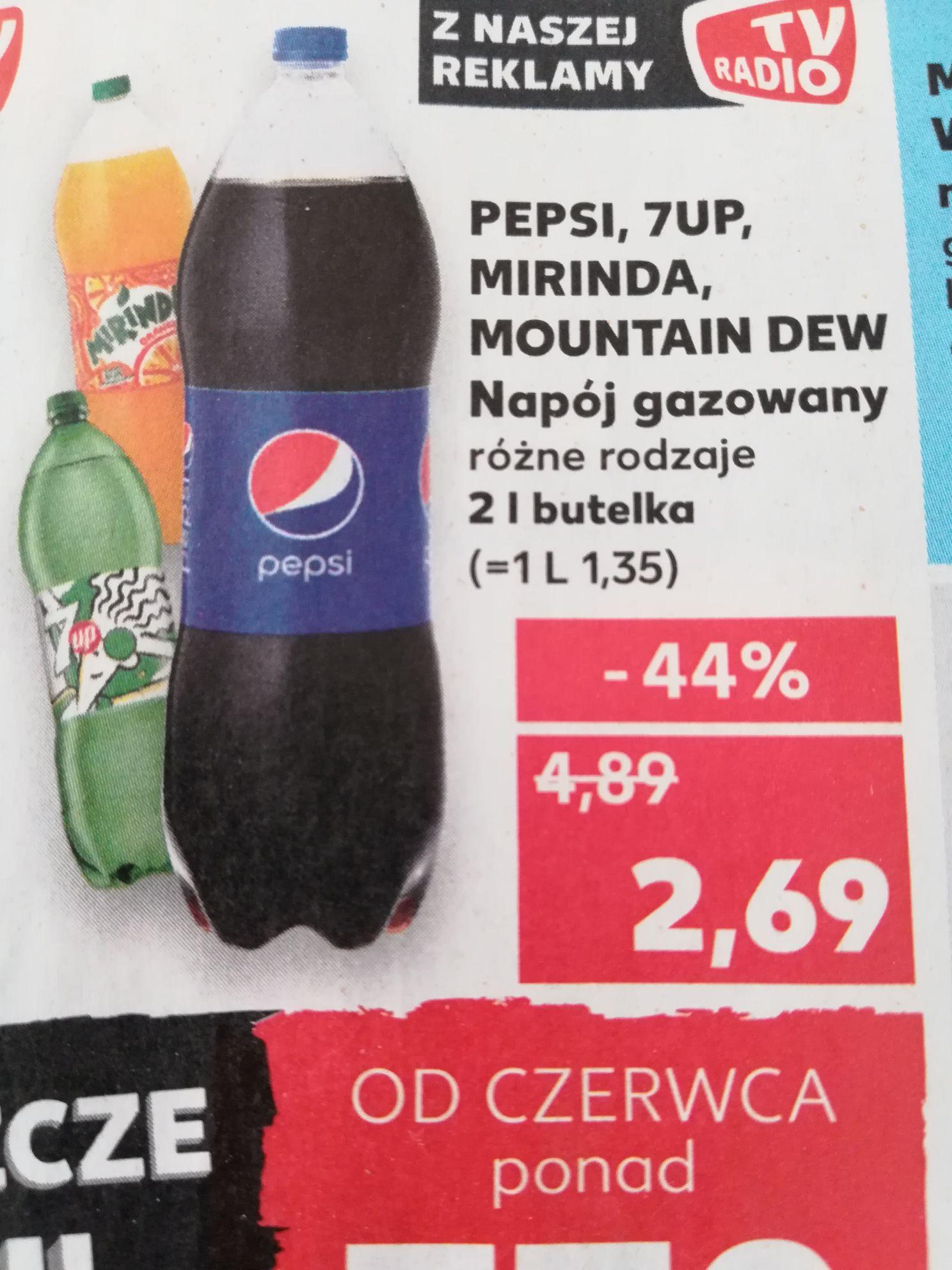 Pepsi, 7up, mirinda, mountan dew Kaufland