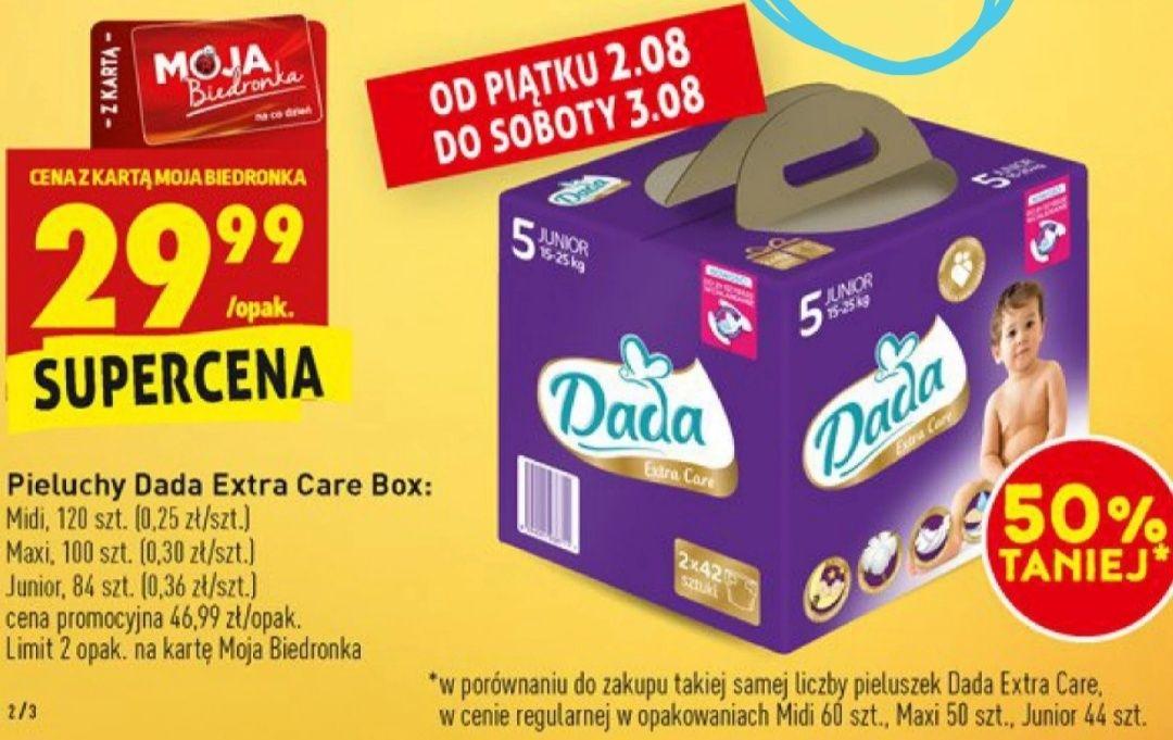 Pieluchy Dada Extra Care Box @Biedronka