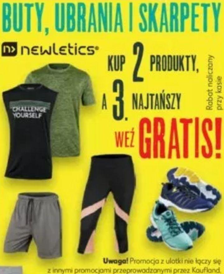 Kup 2 produkty spośród sportowych butów, ubrań i skarpet Newletics, a 3 najtańszy weź gratis @ Kaufland