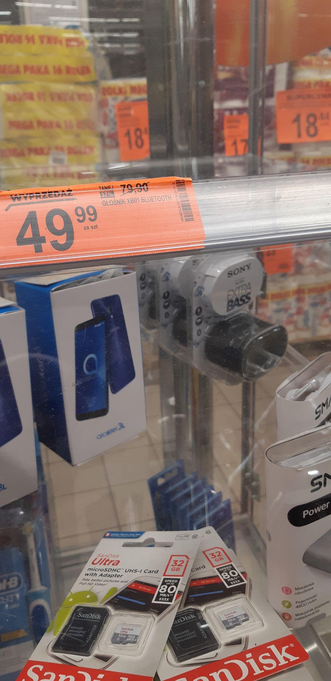 Sony SRS-XB01B czarny  BIEDRONKA