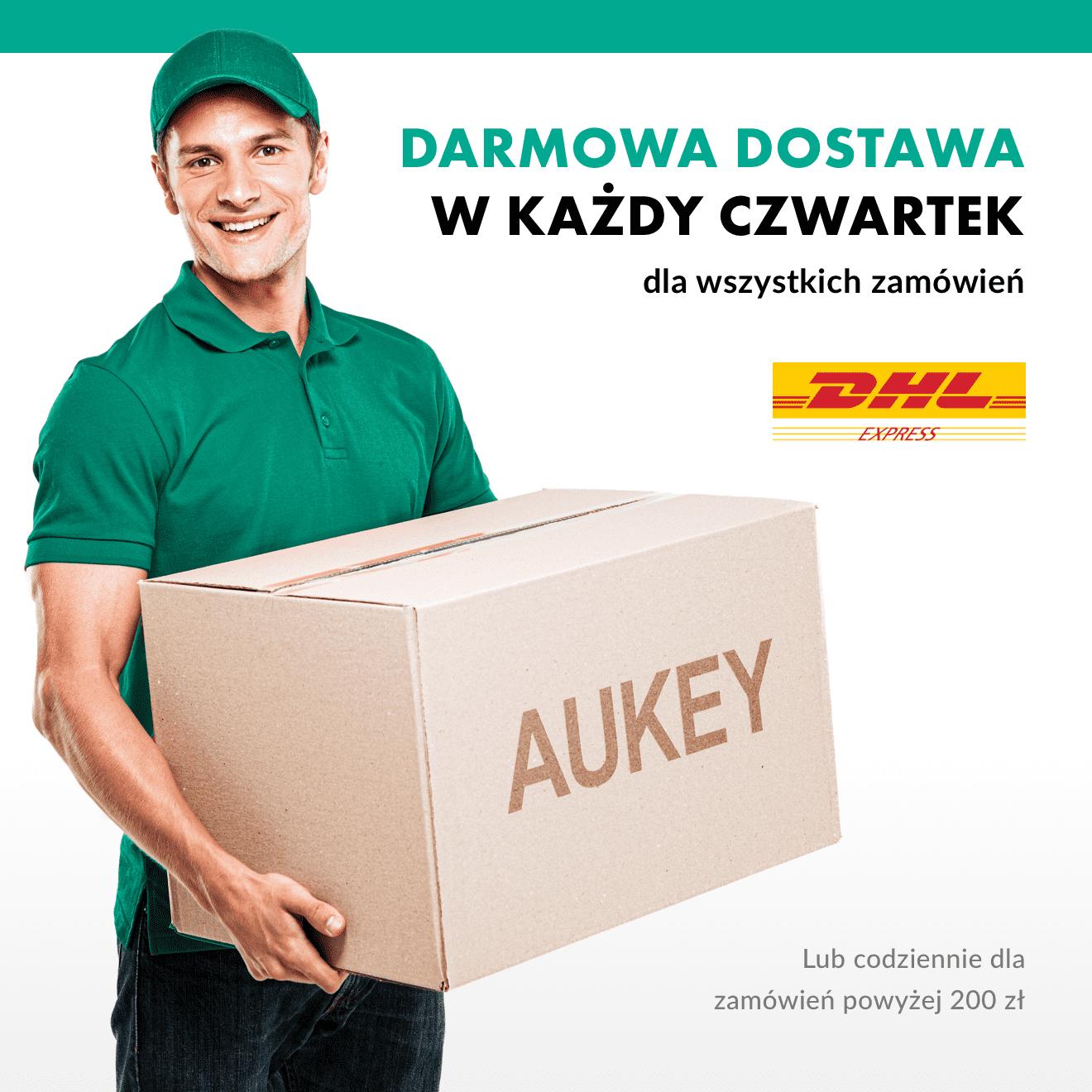Darmowa przesyłka DHL w oficjalnym sklepie aukey.pl!